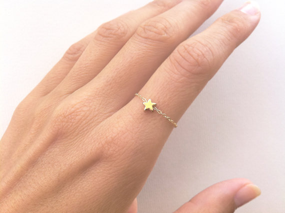 Star Ring Stackable Dainty ...