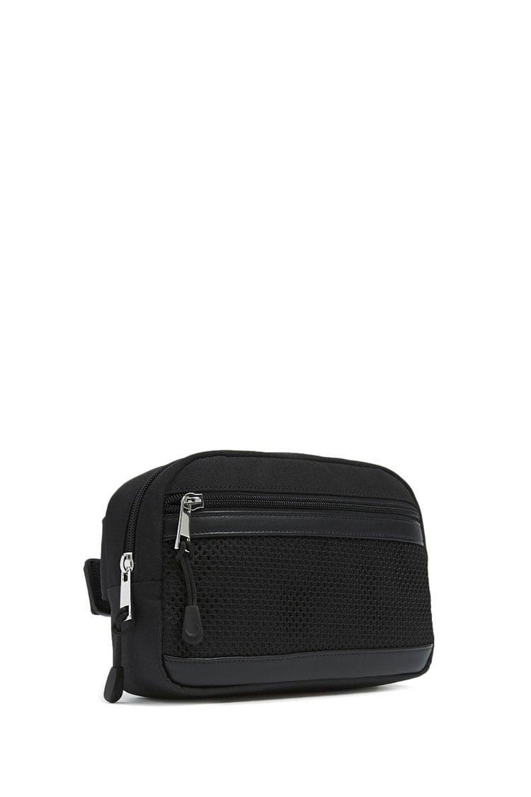 Men Mesh-Trim Belt Bag