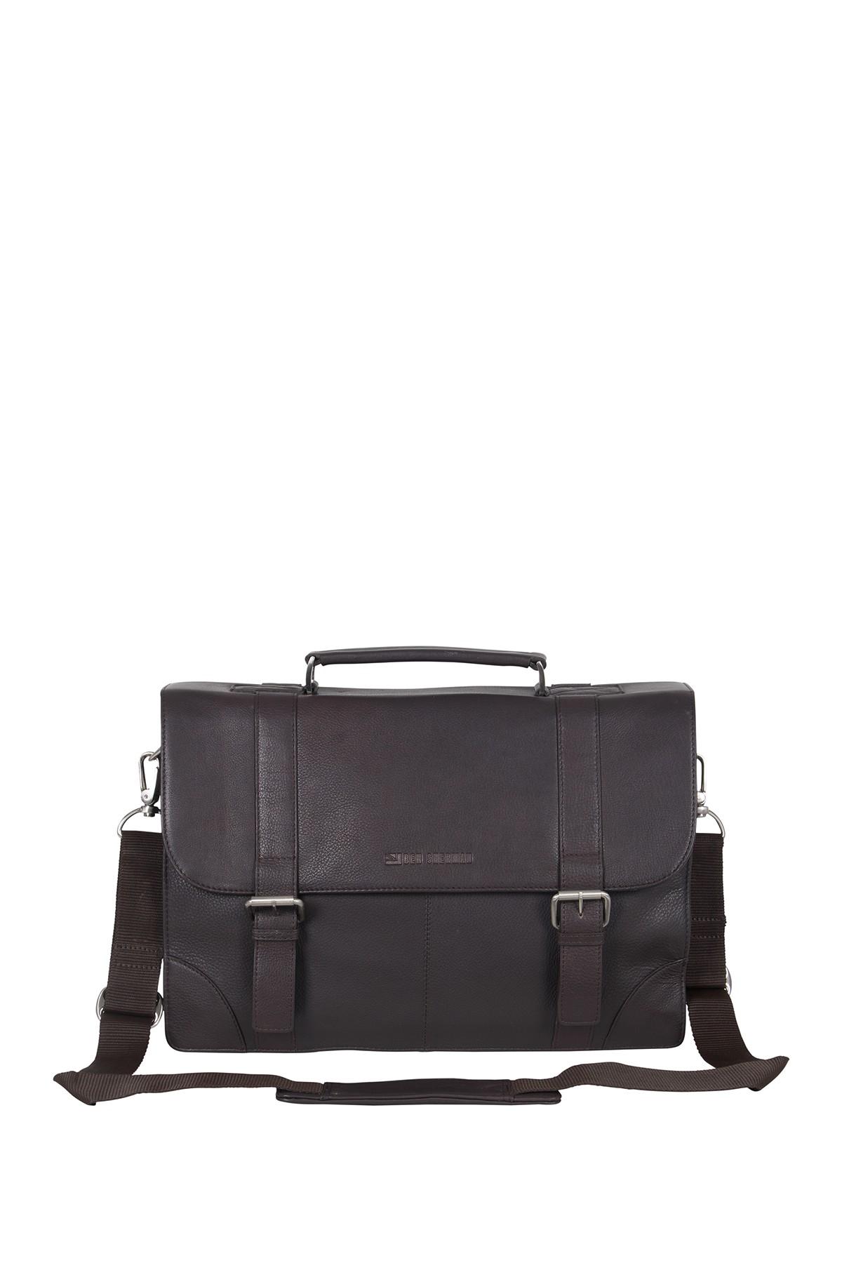 Premium Karino Leather Double Compartment Laptop Case