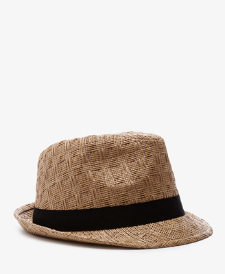 Patterned Straw Fedora | FO...