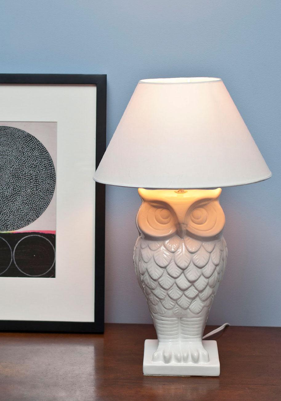 Owl Lit Up Lamp | Mod Retro...