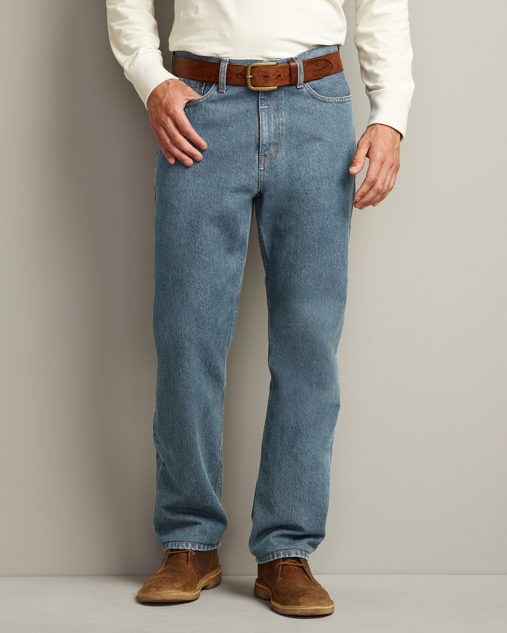 Traditional Fit Five-Pocket...