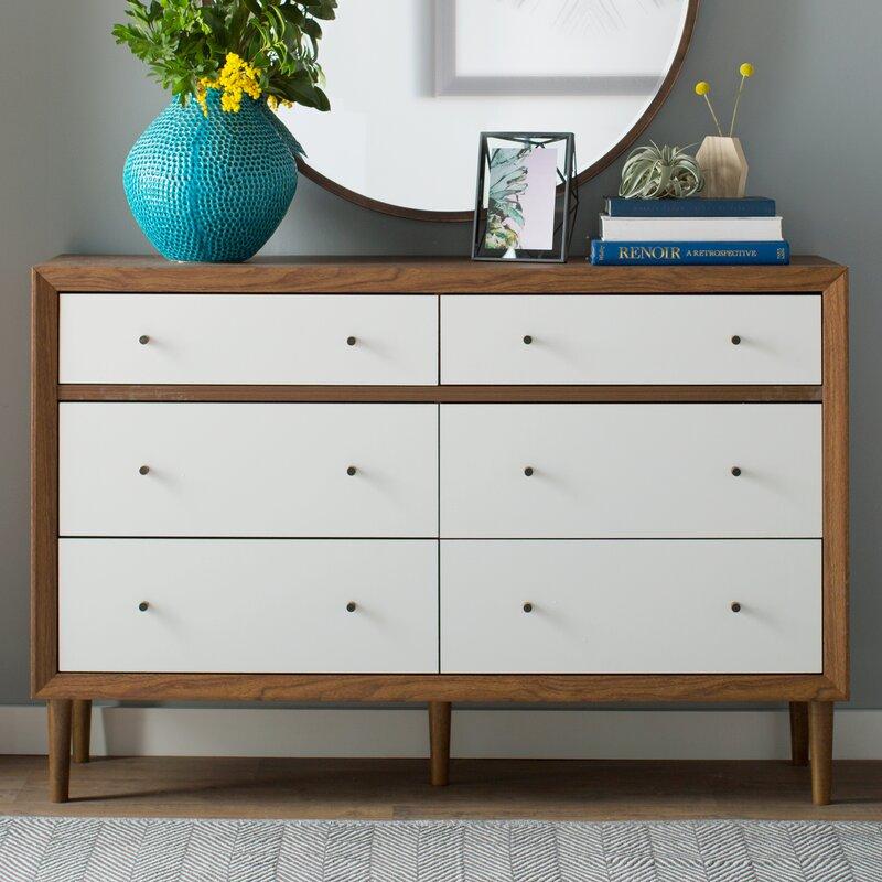 Adelia 6 Drawer Double Dresser
