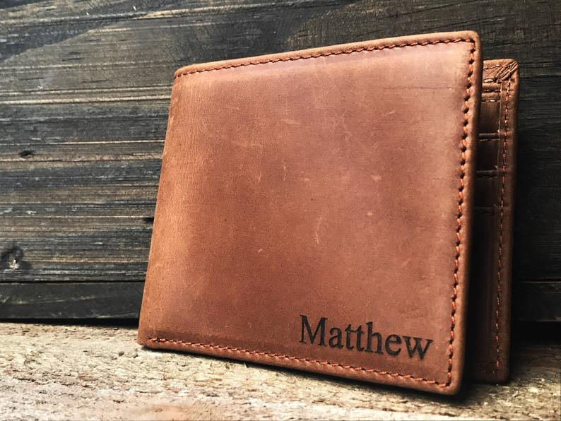 Personalized leather Wallet Personalized wallet personalized Rustic wallet