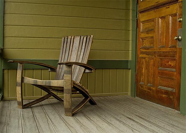 Whiskey Barrel Adirondack C...