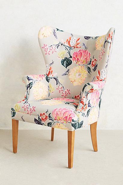 Lotus Blossom Wingback Chai...