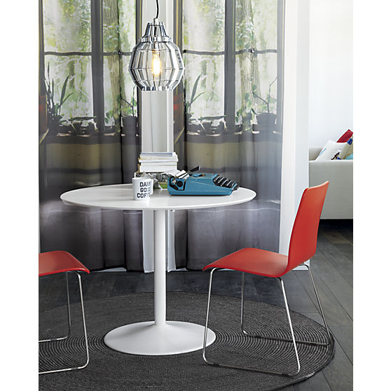 Odyssey White Dining Table CB Shoplinkz Home Shoplinkz - Cb2 white dining table