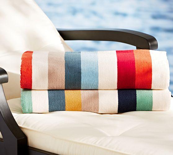 Casual Stripe Beach Towel |...