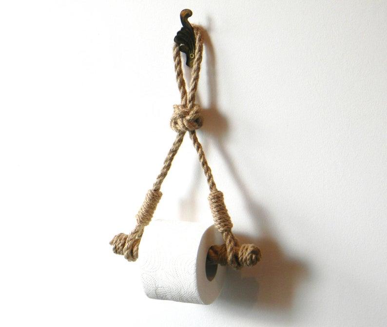 Toilet Paper Holder..Rope Toilet Roll Holder..Jute Rope image 0