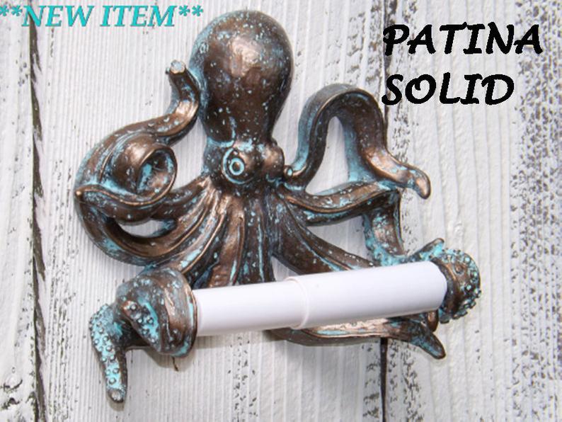 Octopus Toilet Paper HolderBeach BathroomNauticalOctopus image 0