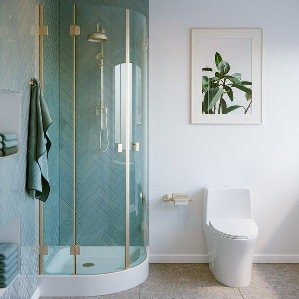 32 x 32 Acrylic White, Single-Threshold, Center Drain, Neo-angle Shower Base