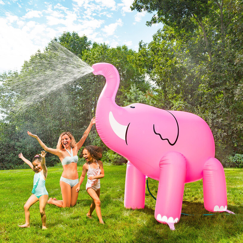 Giant Pink Elephant Sprinkler