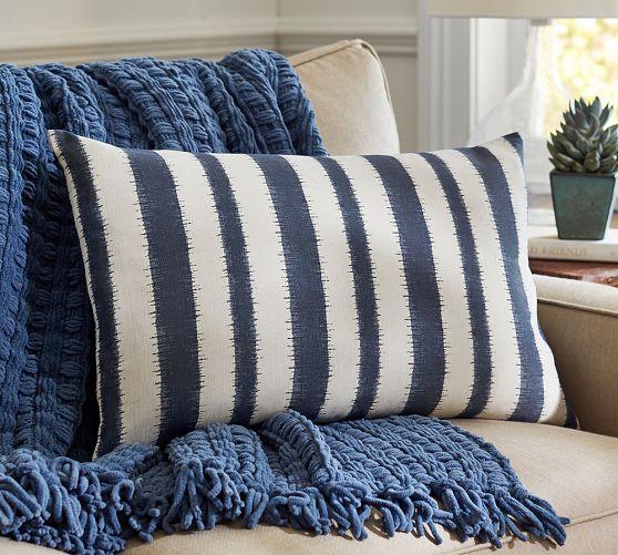 Camden Blue Stripe Pillow C...