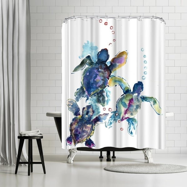 'Baby Sea Turtles 3' Shower Curtain
