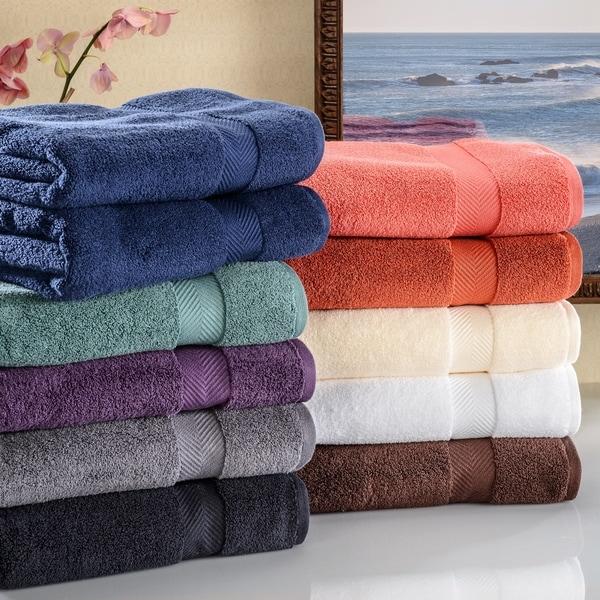 bath Super Soft & Absorbent Zero Twist Cotton Bath Towel (Set of 2)