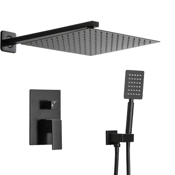 Stainless Steel Shower Set 10 Inch Top Shower Black