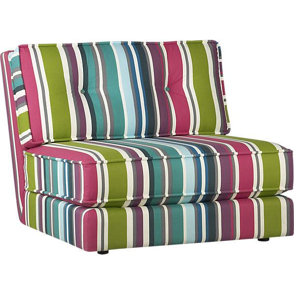 Botao Stripe Armless Sectional Chair Shoplinkz Home Is