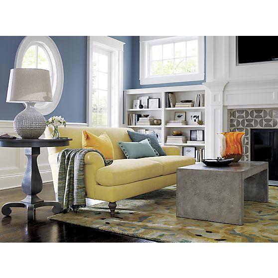 Camilla 2 Seat Sofa In Sofas Crate And Barrel Shoplinkz Furniture And Home Shoplinkz