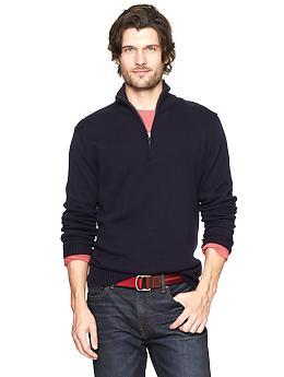 Half-zip mockneck sweater  ...