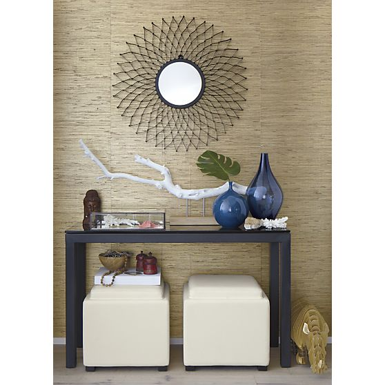 Parsons Console Table With Grey Glass Top In Coffee Tables Side Crate And Barrel