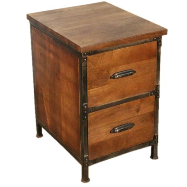 Rustic 2 Drawer Filing Cabinet