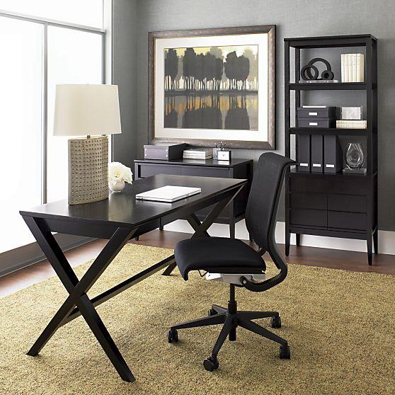 "Spotlight Ebony 58"" Desk in..."