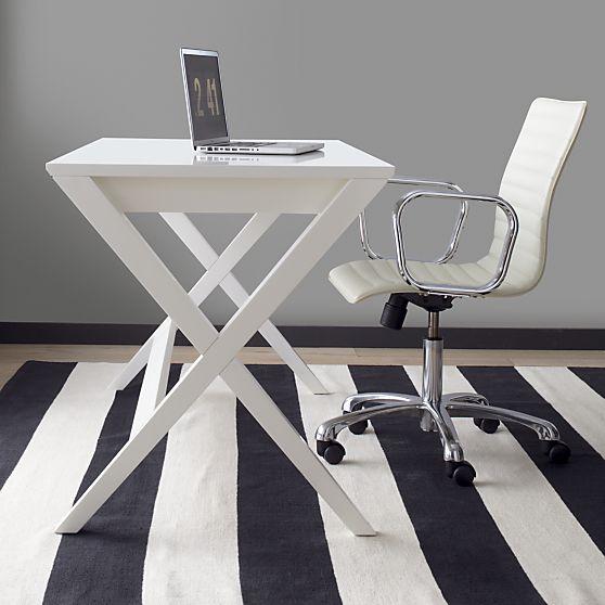 """Spotlight White 58"""" Desk in..."""