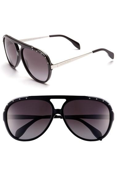 Alexander McQueen 61mm Aviator Sunglasses | Nordstrom