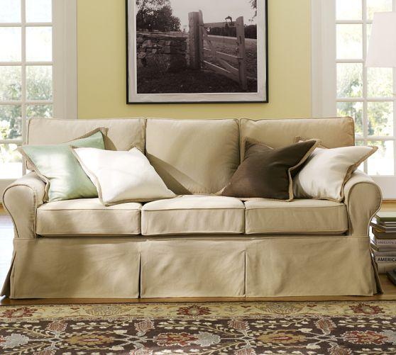 PB Basic Slipcovered Sofa -...