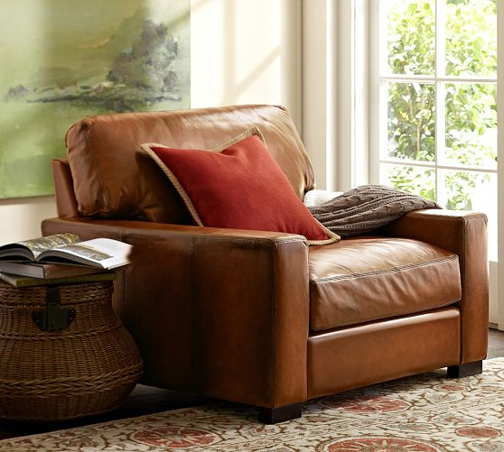 Incredible Turner Leather Armchair Pottery Barn Shoplinkz Caraccident5 Cool Chair Designs And Ideas Caraccident5Info