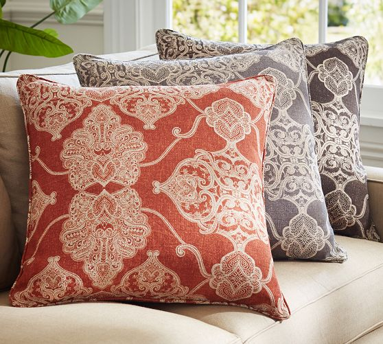 Pottery Barn Decorative Pillow Covers : Alana Printed Pillow Cover Pottery Barn Shoplinkz, Beds & Cushion Shoplinkz
