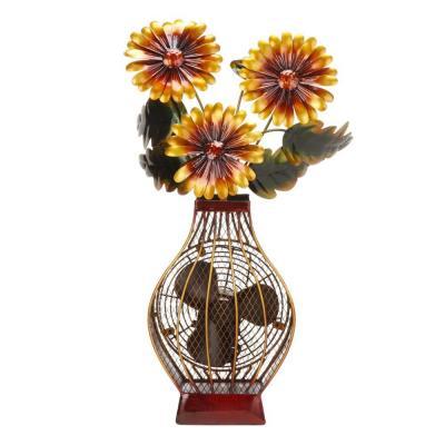 Deco Breeze 7 in. Figurine Fan-Flower Vase-DBF0364 at The Home Depot