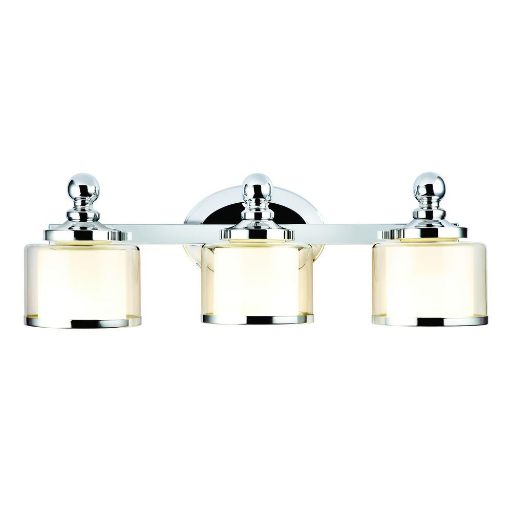 Hampton Bay Levan Collection 3 Light Chrome Vanity Sconce 173353 15 At The Home Depot
