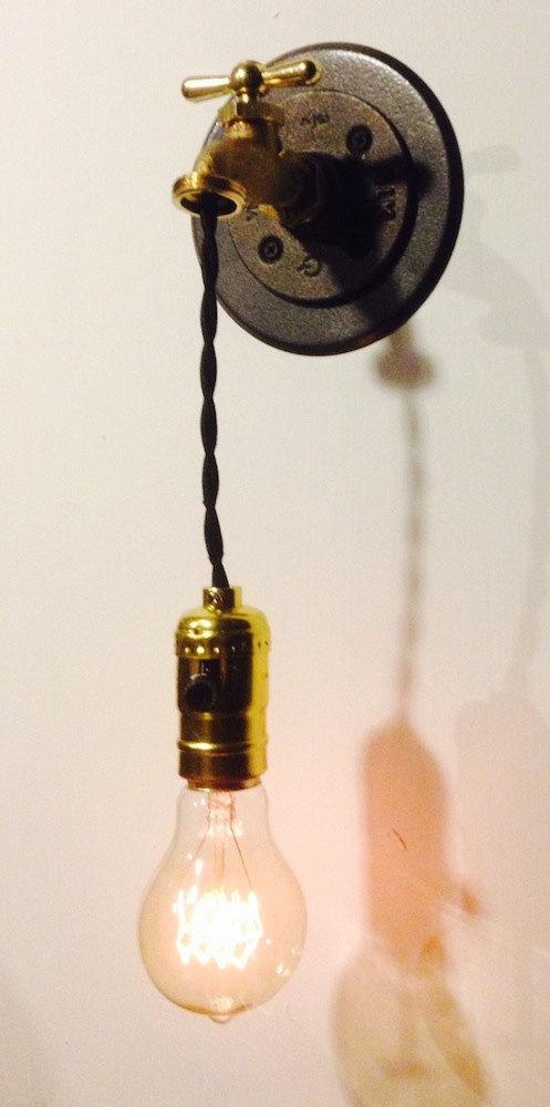 "Industrial Hanging ""Faucet""..."