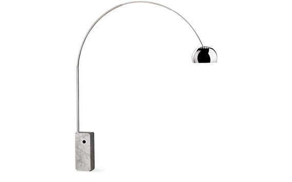 Arco Floor Lamp with White ...