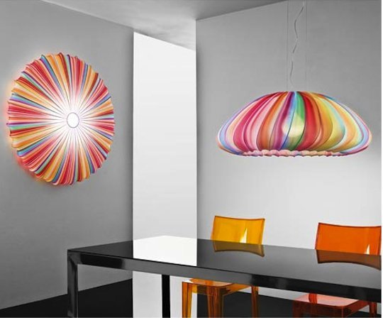 8 Boldly Colorful Ceiling L...