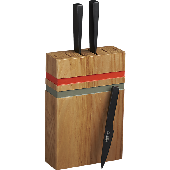 recess knife block in kitch...