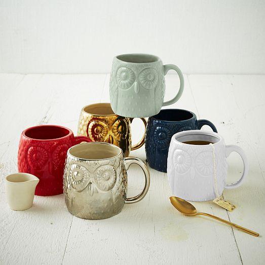 Figurative Owl Mug | West Elm