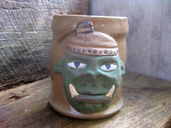 handmade ORC coffee mug: Le...
