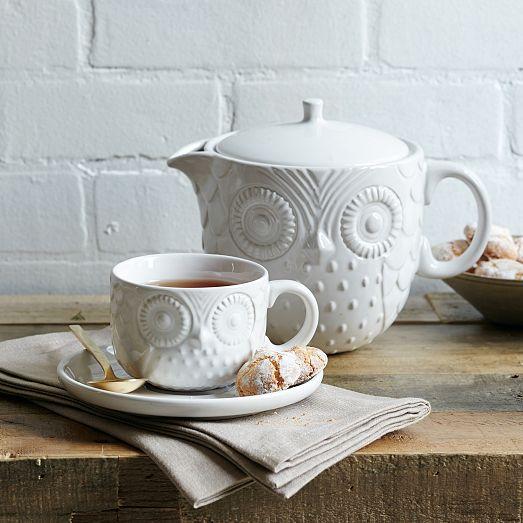 Figurative Owl Teacup   Sau...