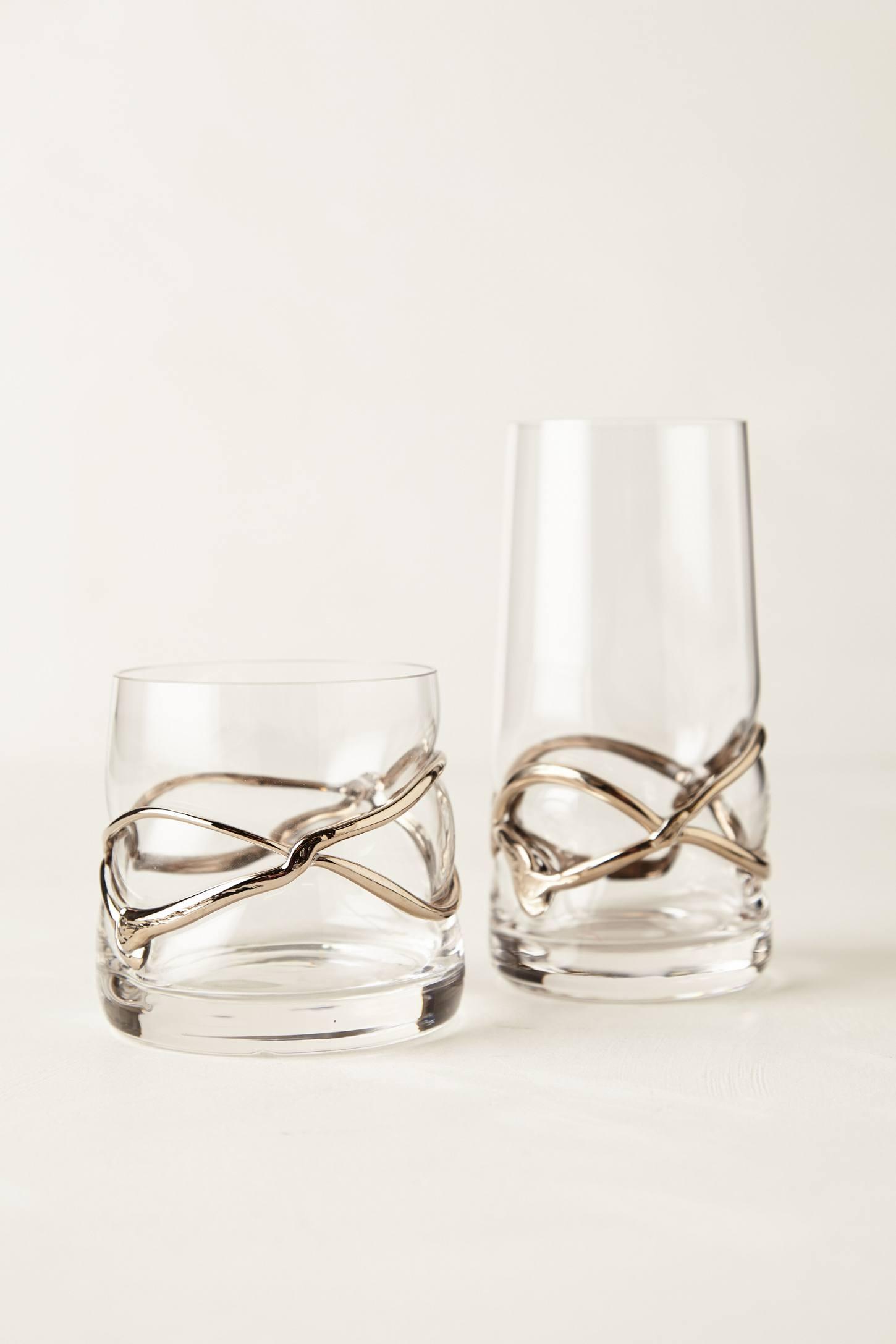 Glimmer-Wrapped Glassware -...