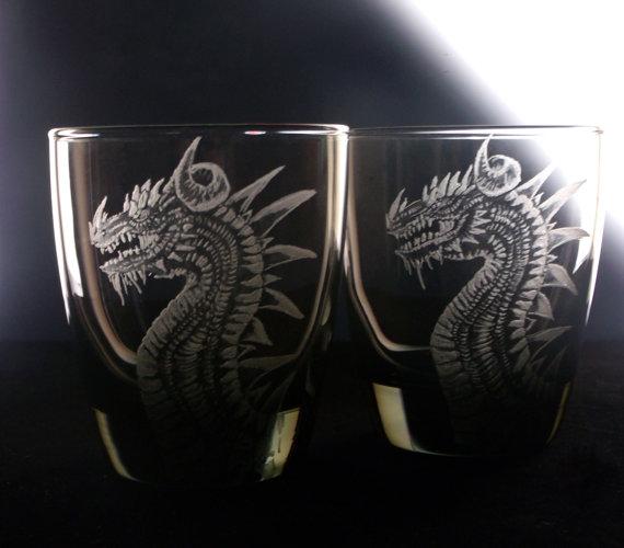 barware Dragon glassware cu...