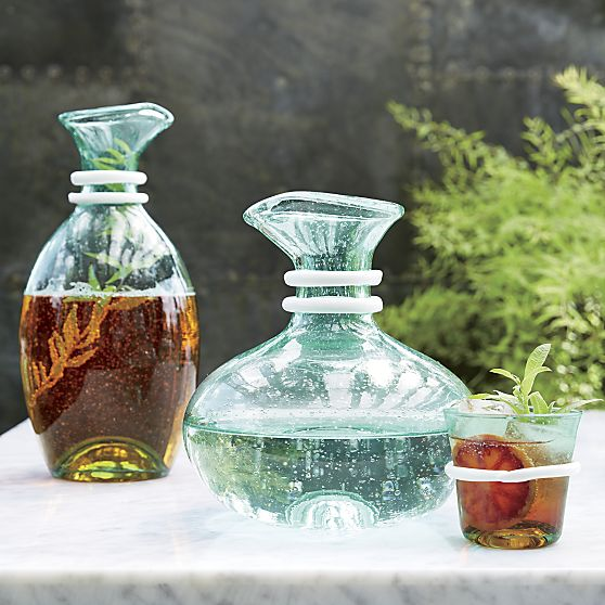 Riviera Short Carafe in Pitchers & Decanters | Crate and Barrel