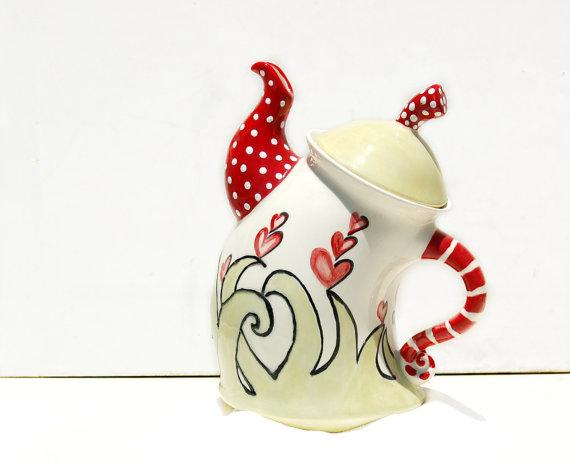 Whimsical Teapot hand paint...