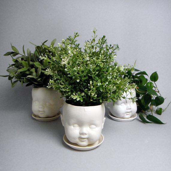 Porcelain Baby doll head pl...
