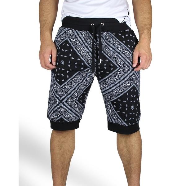Bandana Print Jogger Shorts. Opens flyout.
