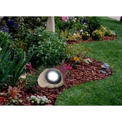 Hampton Bay Rock LED Solar Spot Light-49310-600AS at The Home Depot
