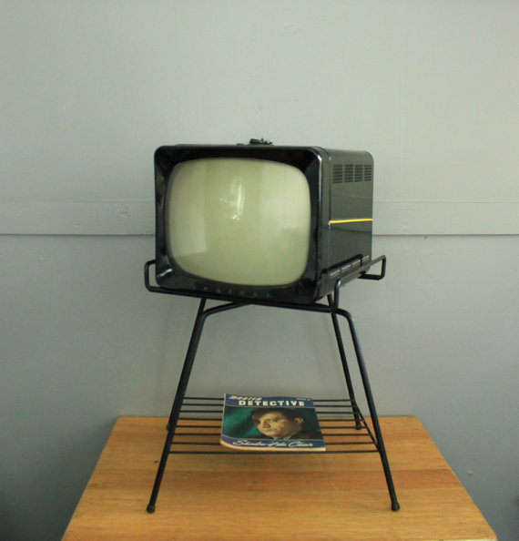 1950s Atomic TV Stand. Blac...