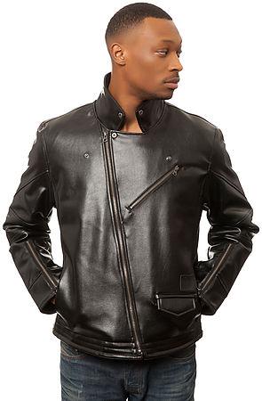 The PU Biker Jacket in Black