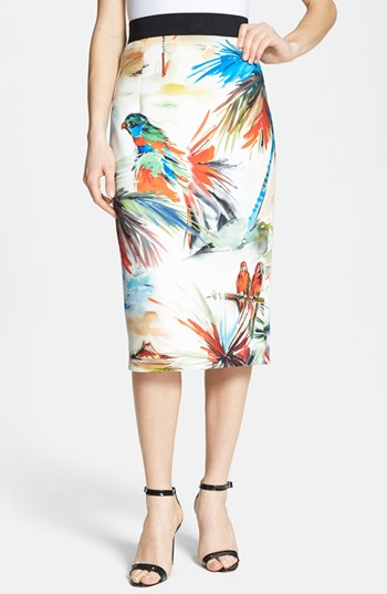 Milly Print Pencil Skirt | ...